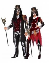 Voodoo-Hexendoktor Paarkostüm für Erwachsene Halloween bunt