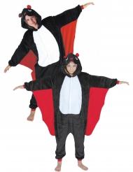 Fledermaus-Paarkostüm für Kinder Overall schwarz-weiss-rot