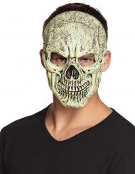 Gruselige Skelett-Schädelmaske für Erwachsene beige-schwarz