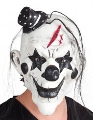 Psycho-Clownmaske Latexmaske Kostüm-Accessoire schwarz-weiss