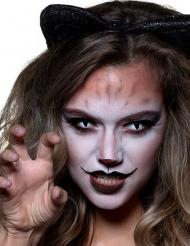 Katzen-Kontaktlinsen für Erwachsene schwarz-weiß