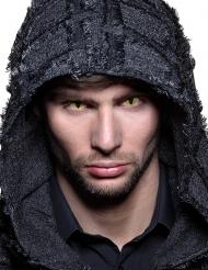 Schlangenaugen-Kontaktlinsen für Erwachsene schwarz-gelb