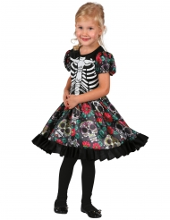 Dia de los Muertos Kleid Skelett-Kostüm für Kinder bunt