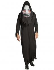 Monster-Kostüm mit Übergroßer Maske Halloween-Verkleidung schwarz-weiss
