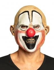 Horror-Clown Vollmaske aus Latex Kostüm-Accessoire für Erwachsene
