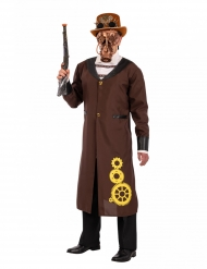 Steampunk-Mantel für Erwachsene Kostümzubehör braun