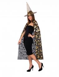 Hexen-Kostümset für Damen 2-teilig schwarz-goldfarben