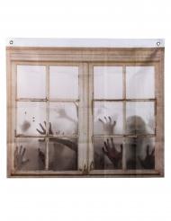 Zombie-Vorhang Deko-Artikel mit Aufdruck braun 75 x 90 cm