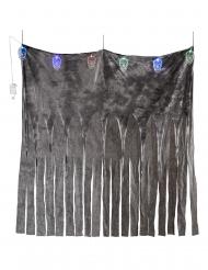 Düsterer Totenkopf-Vorhang für Halloween bunt 185 x 140 cm