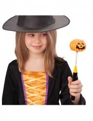 Kürbisstab leuchtend Accessoire für Halloween schwarz-orange