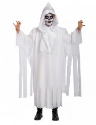 Geister-Skelett-Kostüm für Kinder Halloween weiss