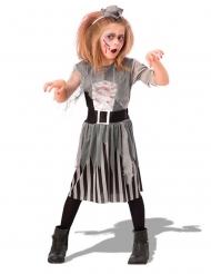 Wildes Zombie-Piratenkostüm für Mädchen Halloween grau-schwarz