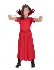 Teuflisches Mädchen-Kostüm für Halloween Teufel rot