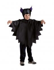 Dunkles Fledermaus-Kostüm für Kinder Halloween-Verkleidung schwarz-lila