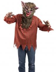 Werwolf Kostüm mit Tunika und Maske für Erwachsene Halloween