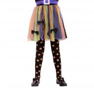 Hübsche Kürbis-Strumpfhose für Kinder Kostümzubehör schwarz-orange