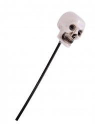 Voodoo-Zepter mit Totenkopf Halloween-Zubehör schwarz-weiss 55cm