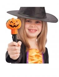 Kürbis-Zauberstab Halloween Accessoire für Kinder schwarz-orange