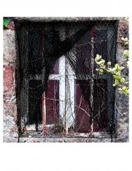 Fransiges Deko-Netz für Halloween schwarz 200 x 75 cm