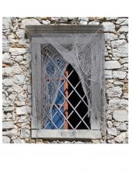 Halloween Deko-Netz für Fenster und Türen grau 200 x 75 cm