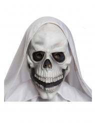 Schädelmaske für Erwachsene Halloween weiß-schwarz