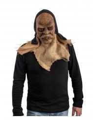 Monster-Vogelscheuche Halloween-Maske für Erwachsene braun