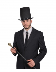 Herren-Zylinder Gentleman-Kopfbedeckung Accessoire schwarz 58 cm