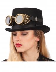 Steampunk-Brille für Erwachsene Kopfschmuck schwarz-braun