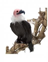 Geier-Dekofigur Tier-Zubehör für Halloween und Fasching schwarz-rosa 21 cm