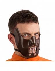 Kannibalistische Halbmaske für Erwachsene Halloween braun-grau