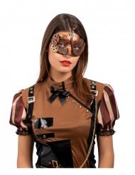 Viktorianische Steampunk-Augenmaske Accessoire für Damen bronzefarben