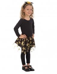 Halloween Petticoat für Mädchen Hexen-Tutu schwarz-gold