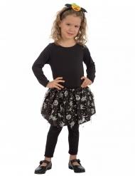 Hexen-Petticoat für Kinder Kostüm-Accessoire schwarz-silber