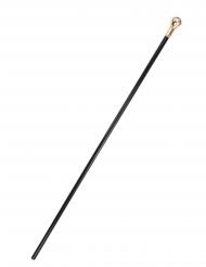 Stilvoller Gehstock Kostüm-Zubehör schwarz-gold 110 cm