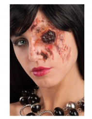 Horror-Narbe fehlendes Auge Halloween-Make-up rotbraun