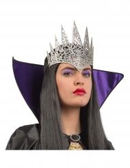 Kopfschmuck Diadem für böse Königinnen Halloween-Accessoire silber