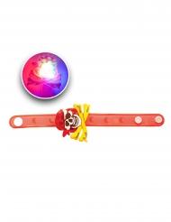 Piraten-Armband leuchtend Kostüm-Accessoire rot-gelb-weiss