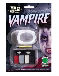 Make-up-Set für Vampire Halloween-Schminke 7-teilig bunt