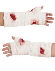 Blutige Handbandage für Erwachsene Halloween