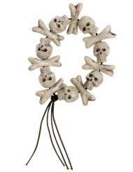 Totenkopf und Knochen Armband Halloween
