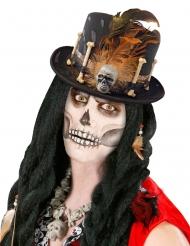 Voodoo-Priester-Hut Accessoire für Erwachsene schwarz-braun
