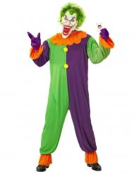 Psychopatisches Clownkostüm für Herren Halloween bunt