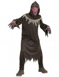 Düsteres Dämonen-Kostüm für Kinder Halloween-Verkleidung schwarz