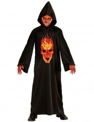 Höllisches Dämonen-Kostüm für Kinder Halloween-Verkleidung schwarz-rot