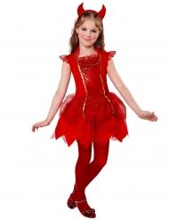 Höllisches Teufel-Kostüm für Mädchen Halloween-Verkleidung rot