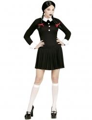 Gothic Schulmädchen Kostüm für Damen Halloween