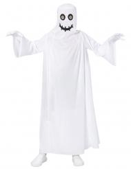 Gespenstisches Geisterkostüm für Kinder Halloween weiss