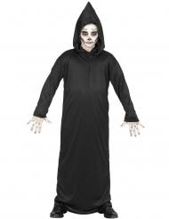 Sensenmann-Kostüm für Jungen Halloween-Verkleidung schwarz