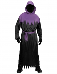 Todes-Sensenmann-Kostüm für Halloween Herrenkostüm schwarz-lila