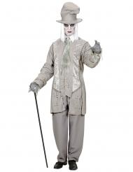 Geister-Gentleman Halloween-Kostüm für Herren grau-weiss